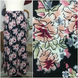 Christopher & Banks Skirts - Christopher & Banks Floral Godet Flare Mid…